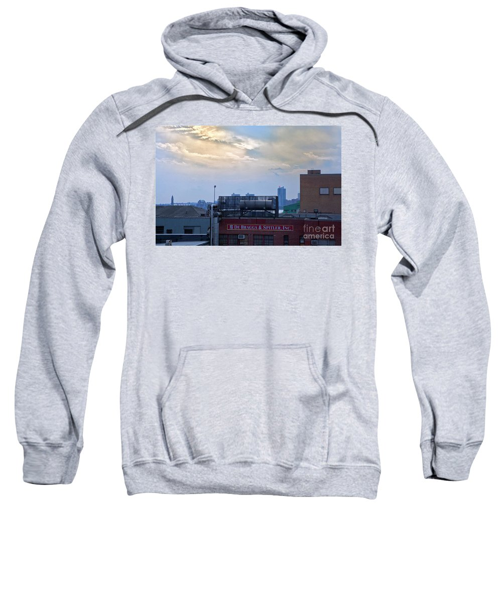 High Line Park Sweatshirt featuring the photograph View From The High Line by Madeline Ellis