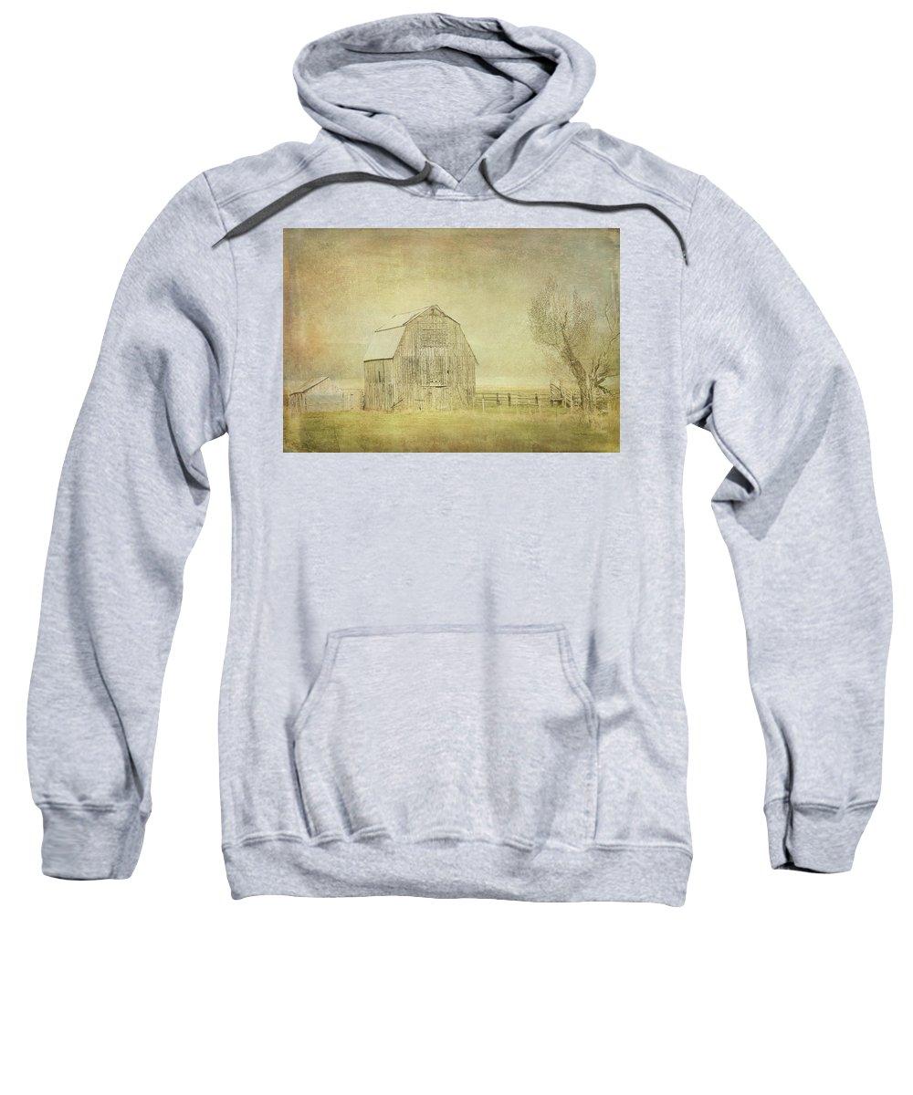 Barn Sweatshirt featuring the digital art Vintage Barn by Ramona Murdock