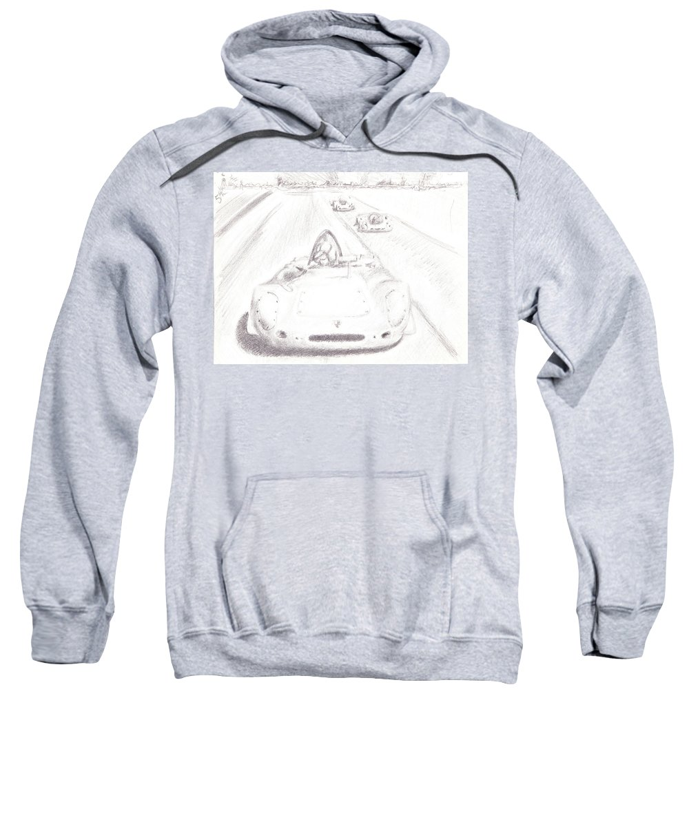 Vintage Motor Sport Sweatshirt featuring the drawing Vintage Motor Sport by James Ath
