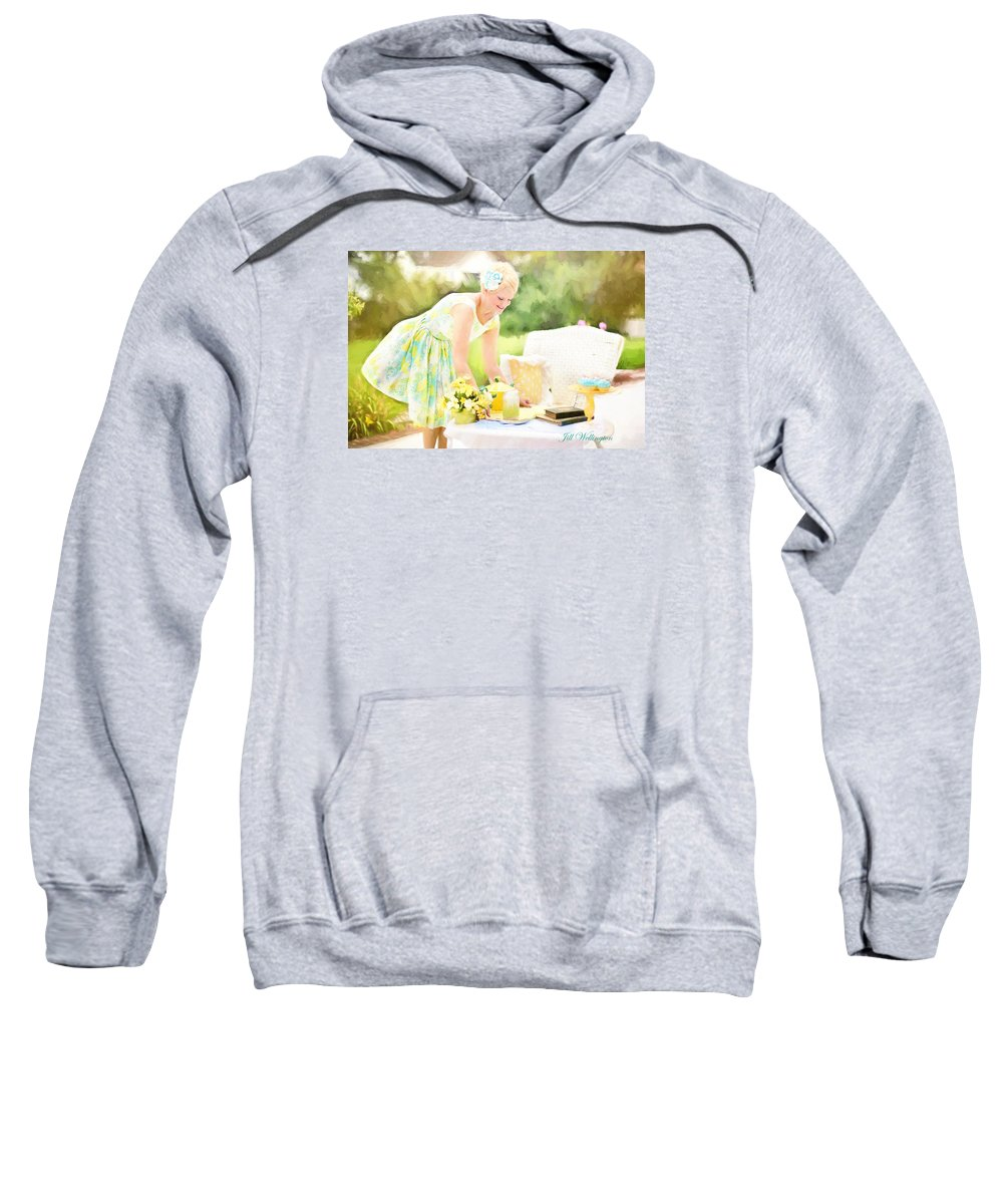 Vintage Val Sweatshirt featuring the photograph Vintage Val Iced Tea Time by Jill Wellington