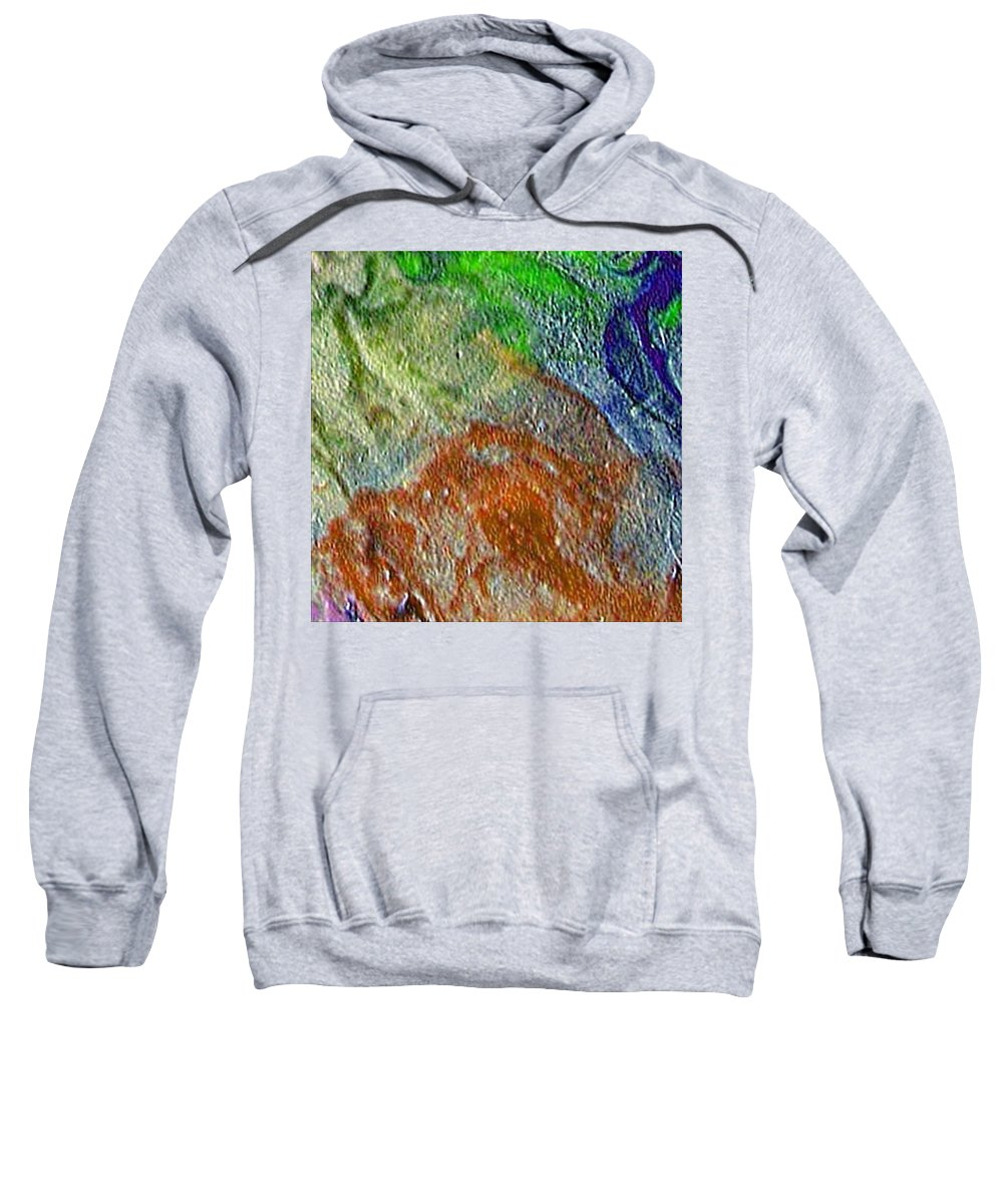 Abstract Sweatshirt featuring the painting W 045 by Dragica Micki Fortuna