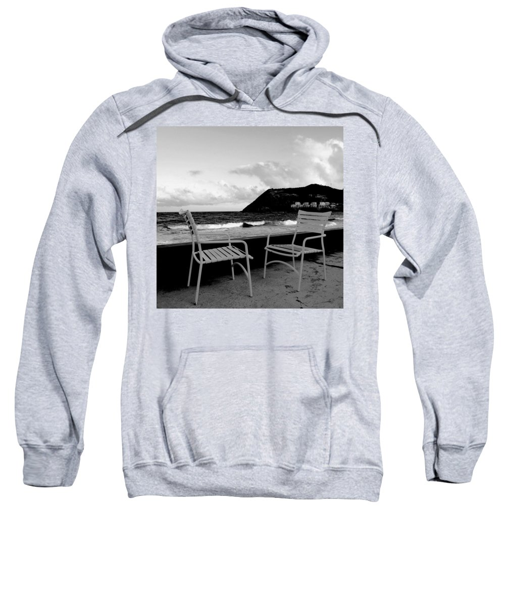 Ocean Sweatshirt featuring the photograph Waiting by Ian MacDonald