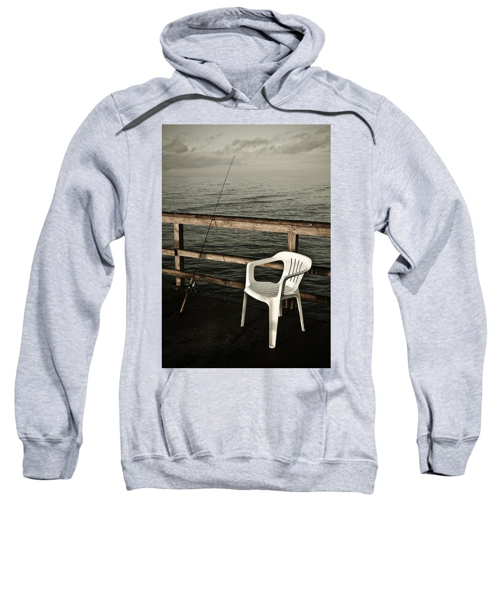 Fish Sweatshirt featuring the photograph Waiting by Marilyn Hunt