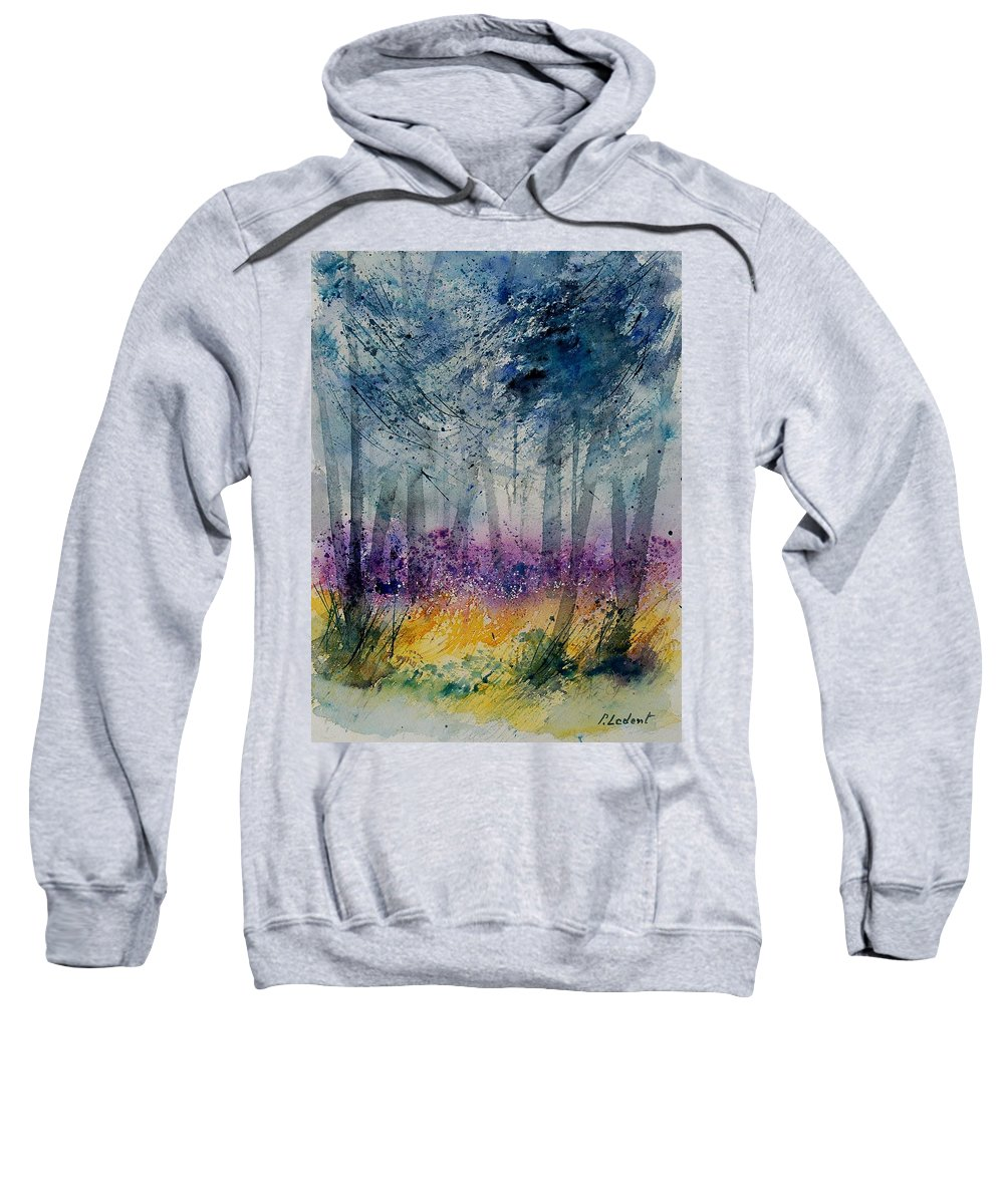 Flowers Sweatshirt featuring the painting Watercolor 130608 by Pol Ledent