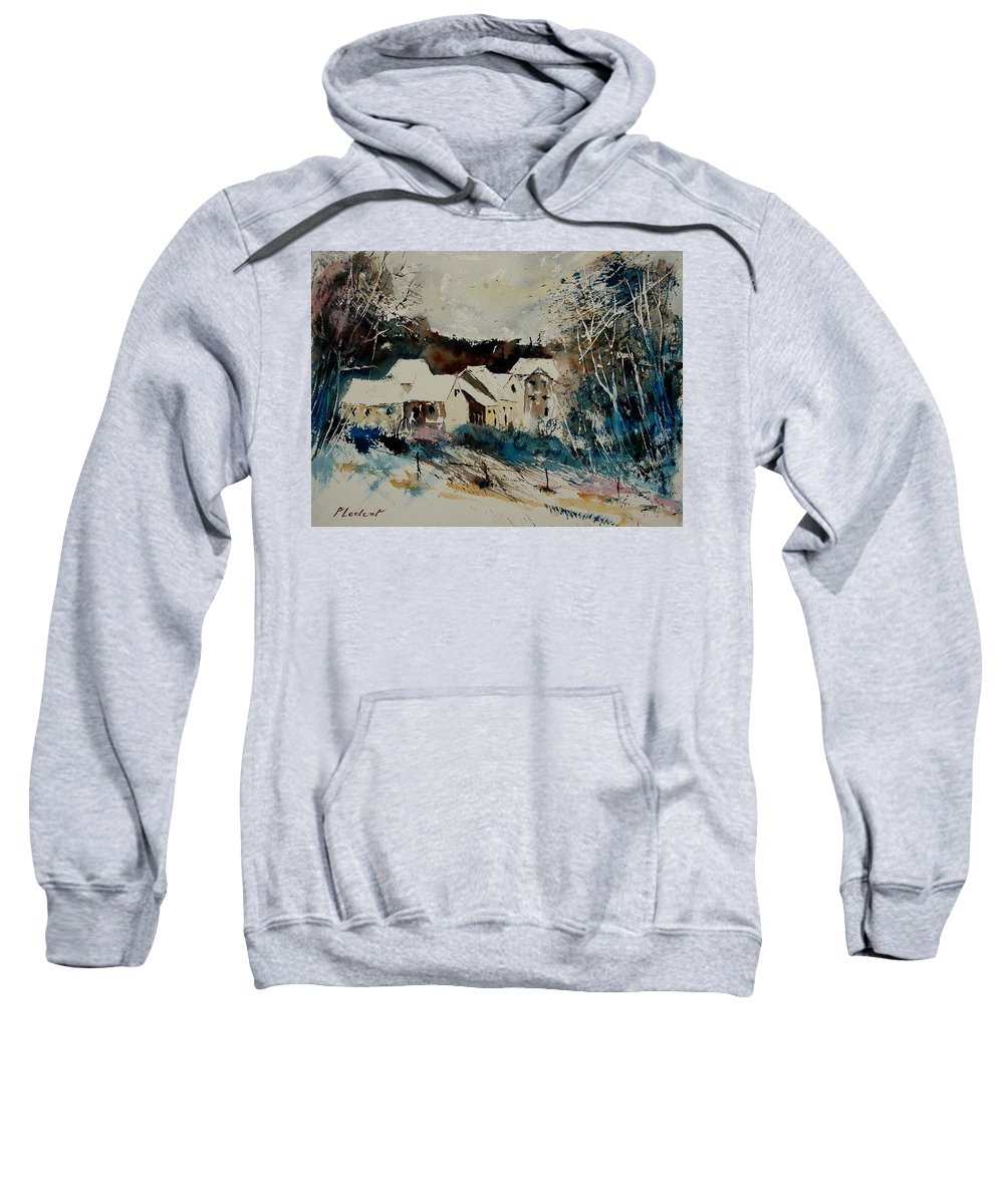 Winter Sweatshirt featuring the painting Watercolor 902040 by Pol Ledent