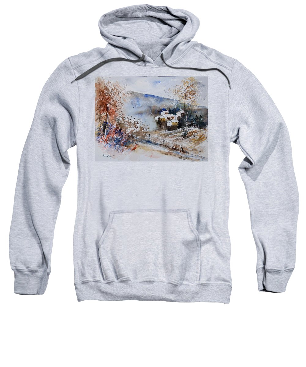 Winter Sweatshirt featuring the painting Watercolor 902091 by Pol Ledent