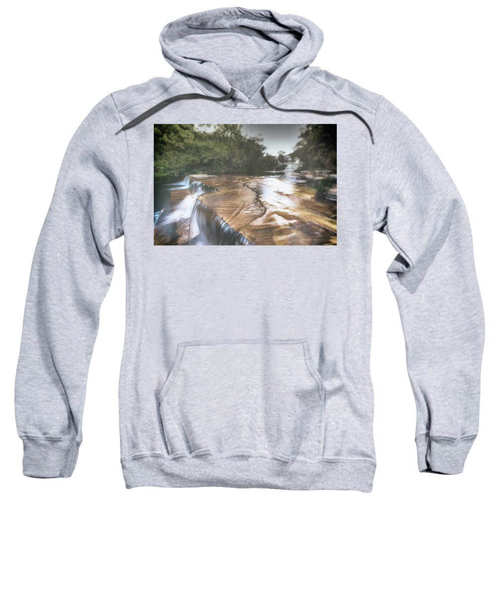Analog Efex Pro 2 (double Exposure) Sweatshirt featuring the photograph Waterfall by Enio Godoy