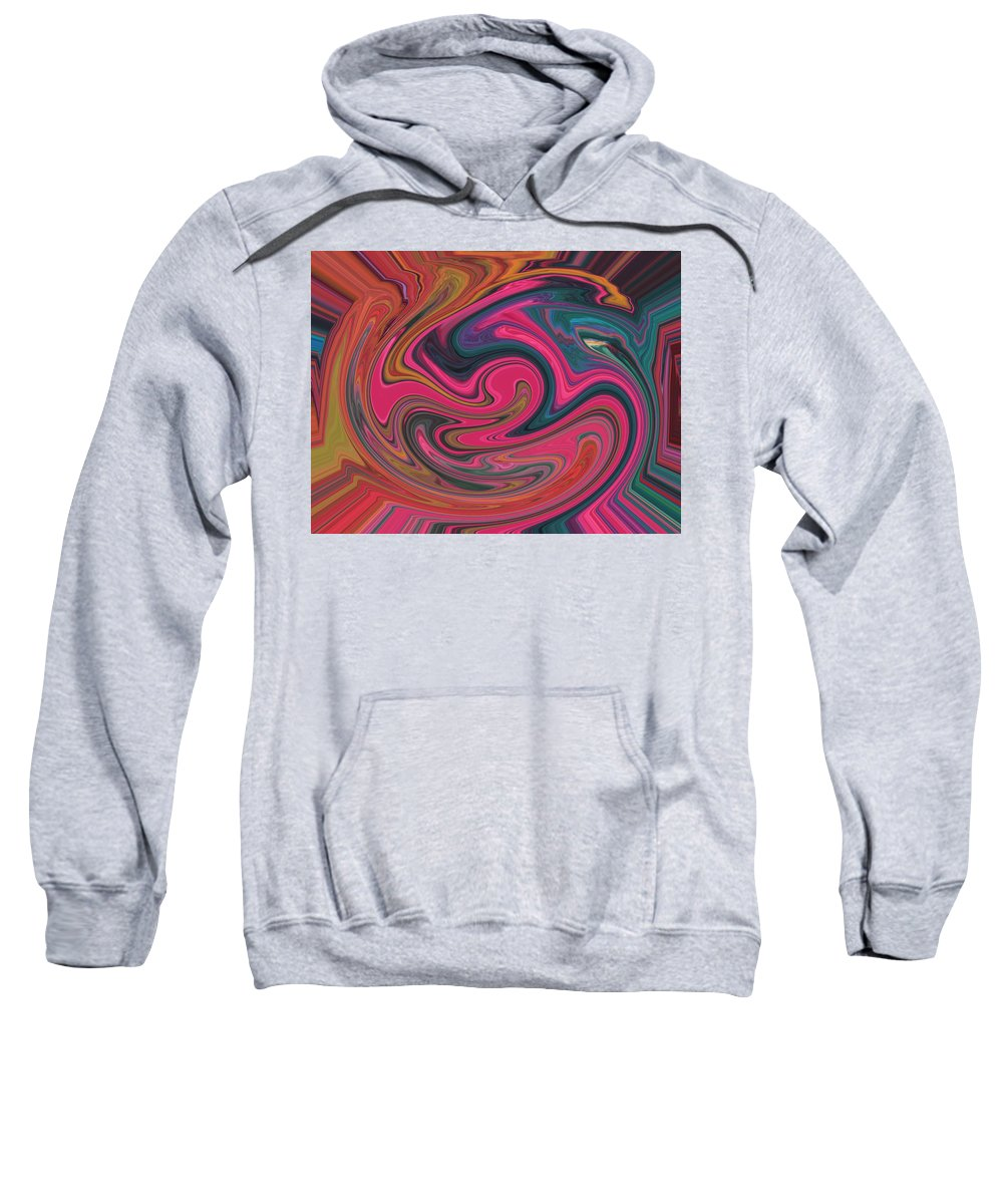 Abstract Sweatshirt featuring the digital art Which Way To The Art Gallery by Lenore Senior