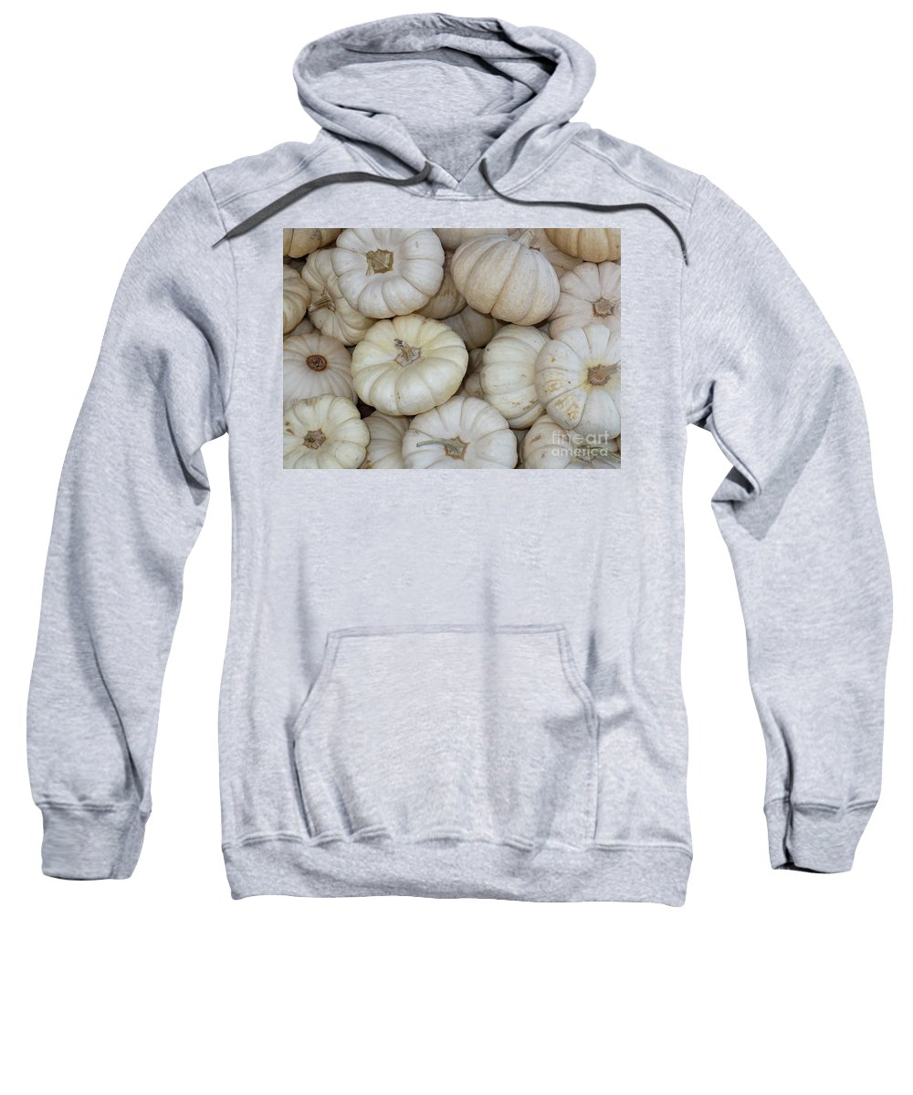 Fall Sweatshirt featuring the photograph White Pumpkins by Carol Groenen