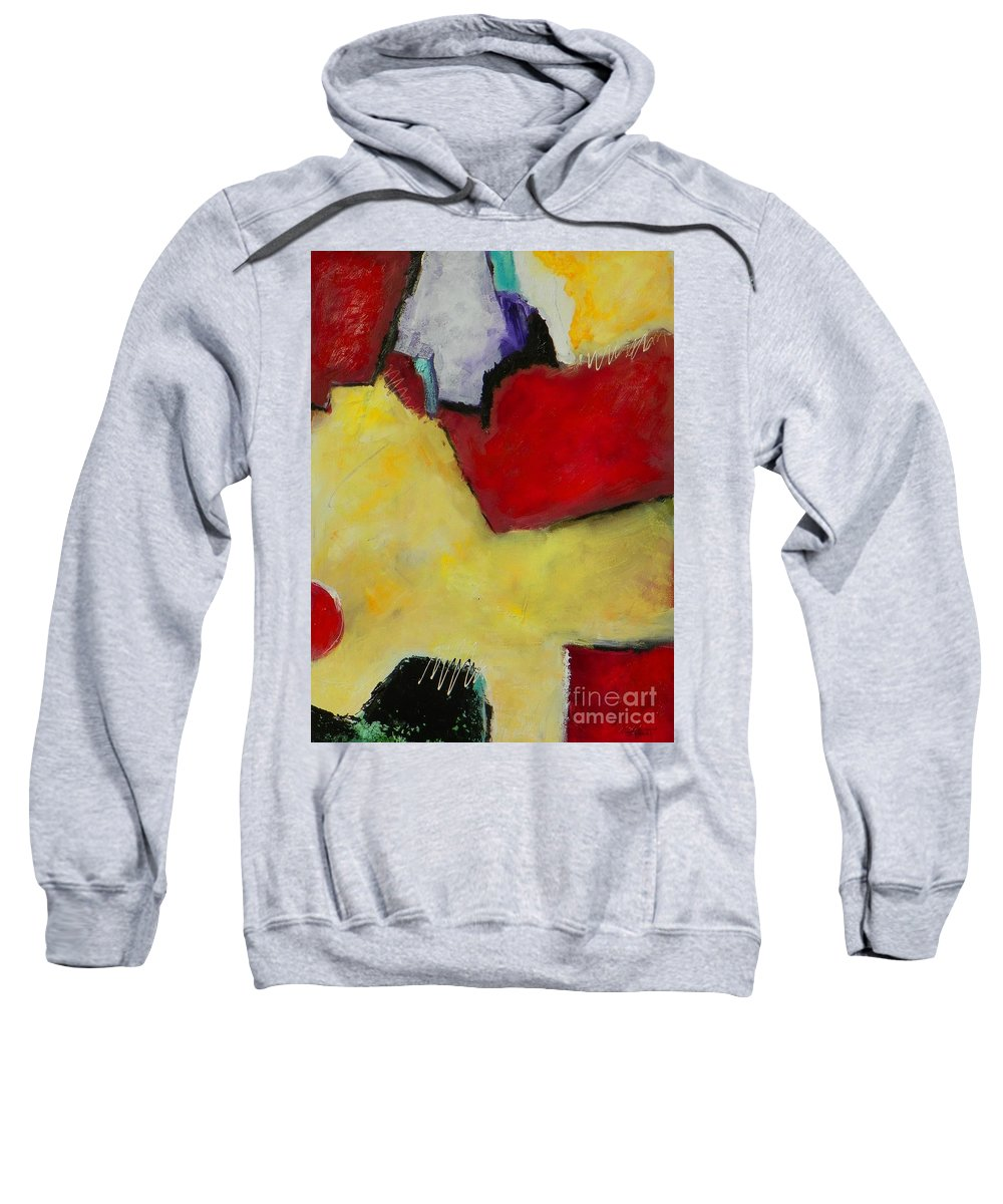 Abstract Expressionism Sweatshirt featuring the painting Winter Moon by Donna Frost