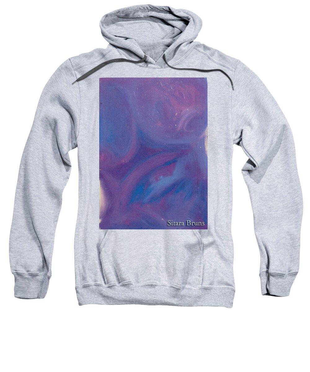 Sweatshirt featuring the pastel Without Titel by Sitara Bruns
