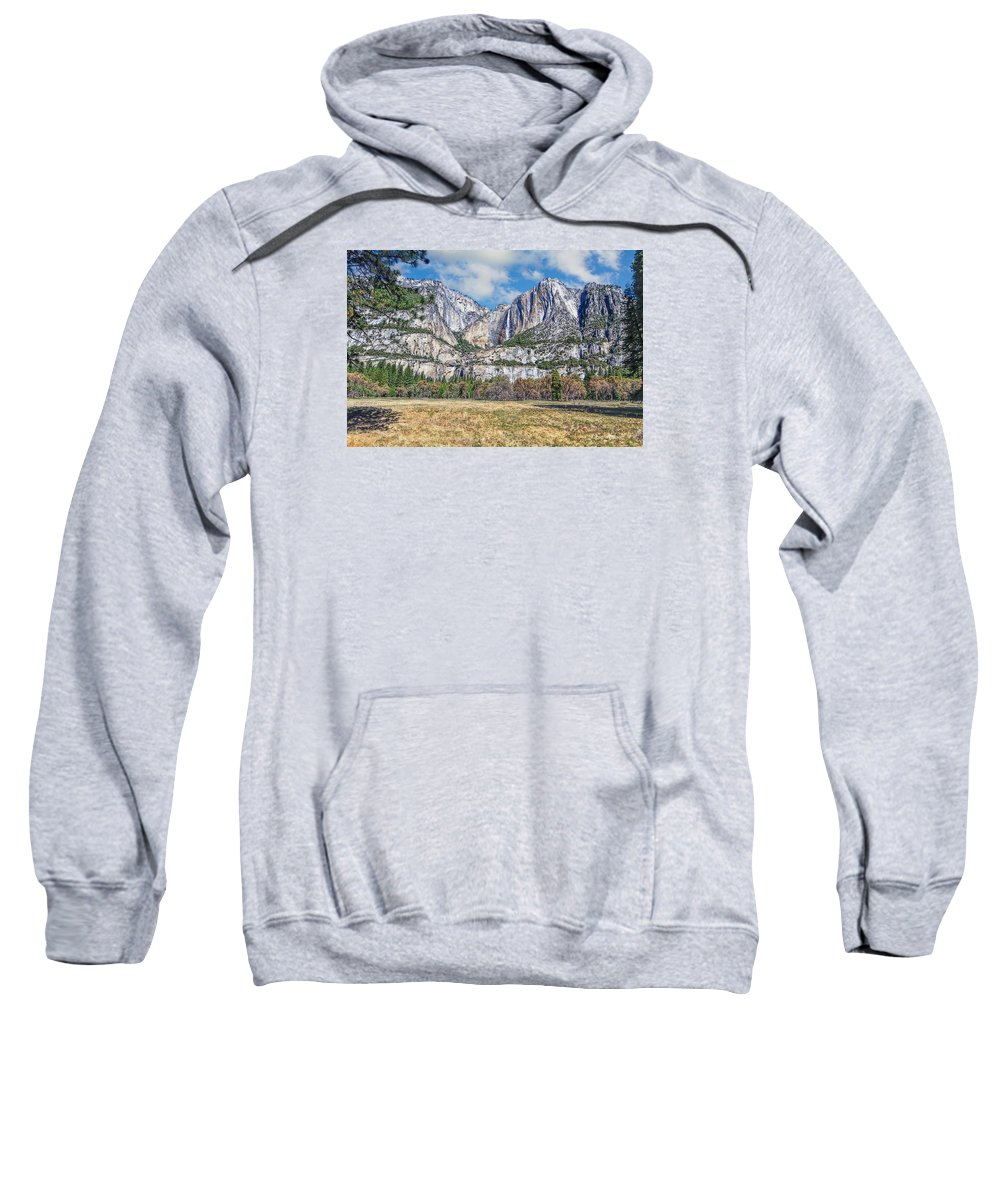 California Sweatshirt featuring the photograph Yosemite Falls by Leon Roland