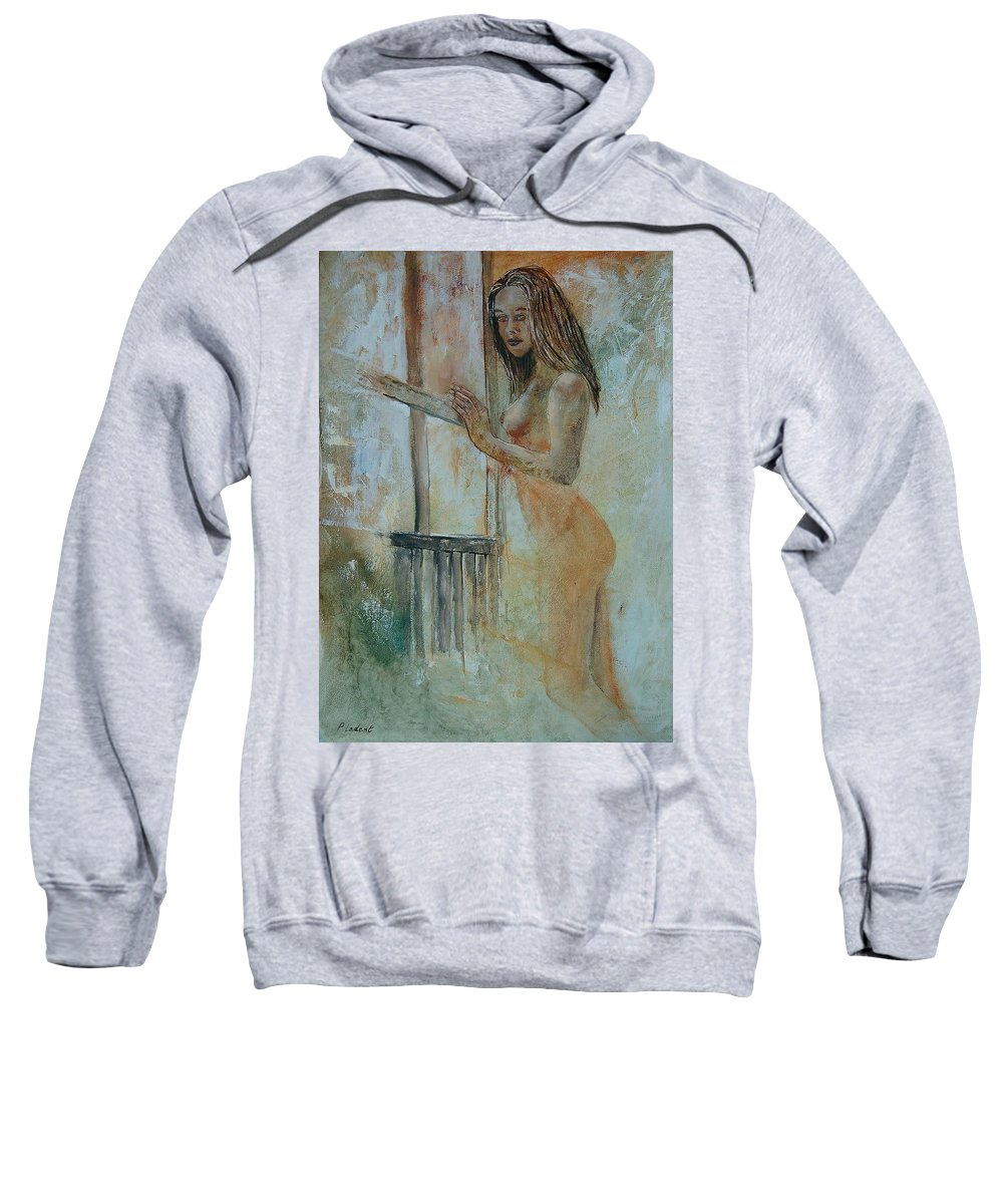 Gir Sweatshirt featuring the painting Young Girl 57905062 by Pol Ledent
