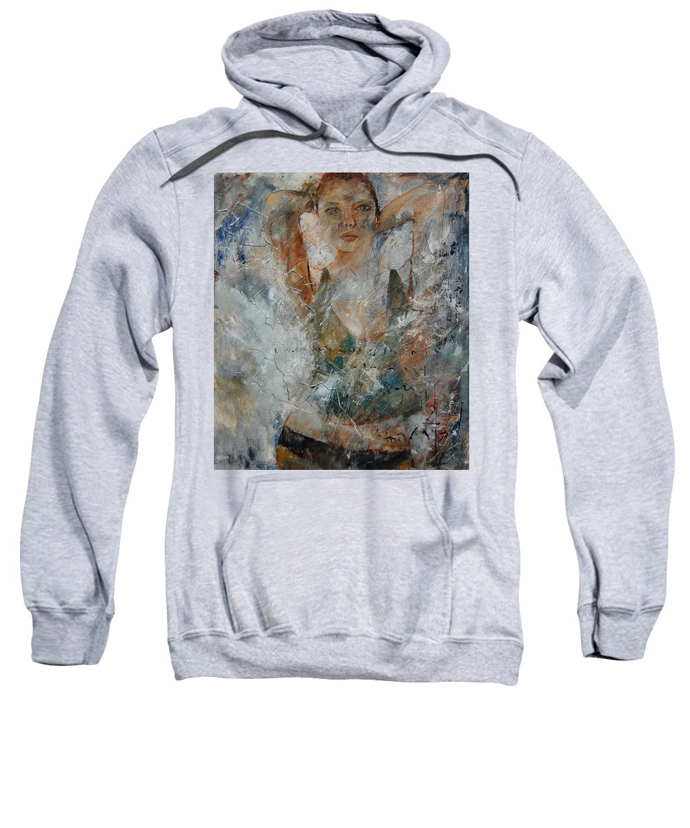 Girl Sweatshirt featuring the painting Young Girl 679080 by Pol Ledent