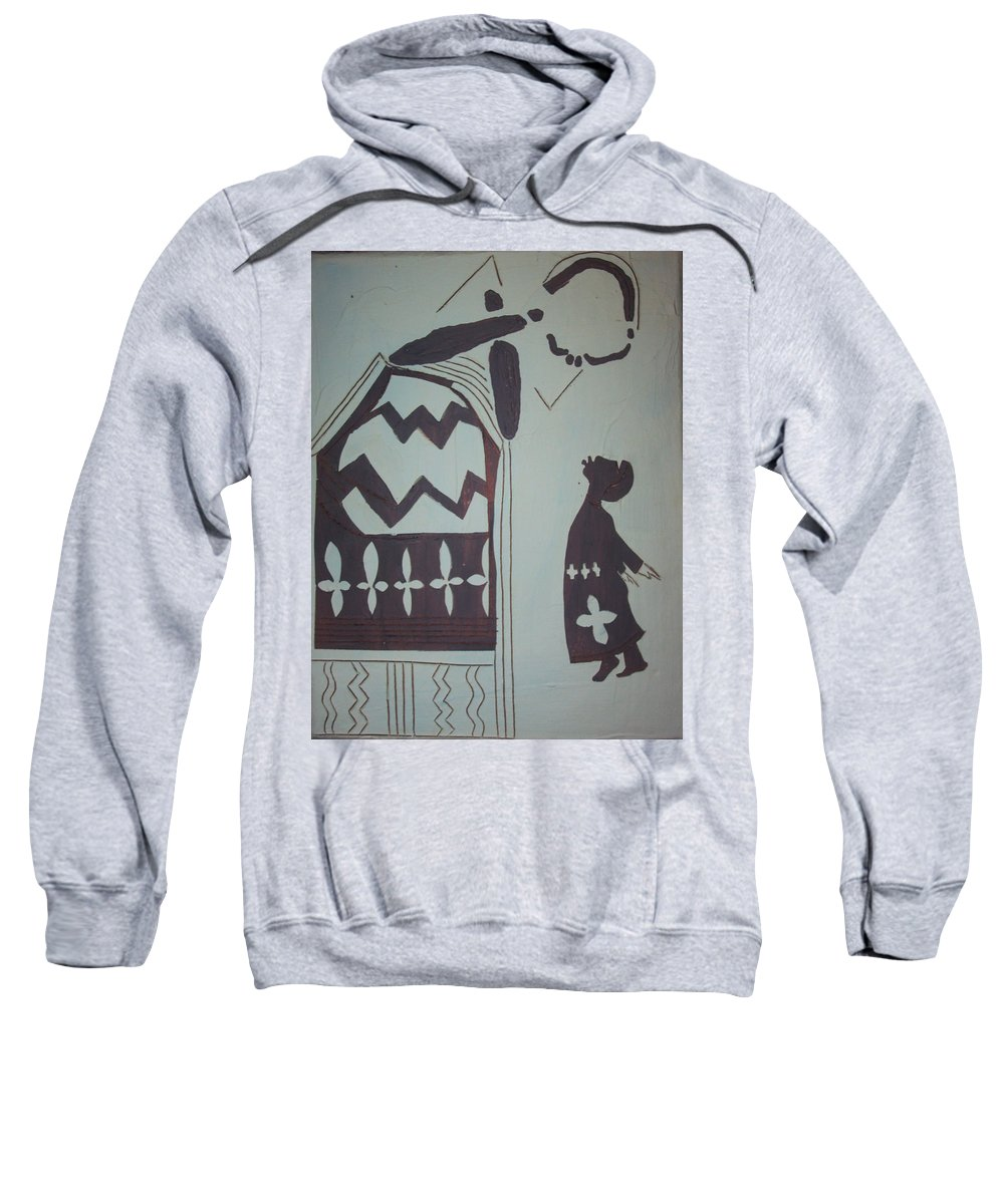 Jesus Sweatshirt featuring the painting Madonna And Child by Gloria Ssali