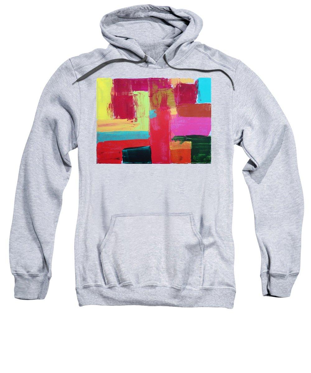 Abstract Sweatshirt featuring the painting Untitled by Tamara Savchenko