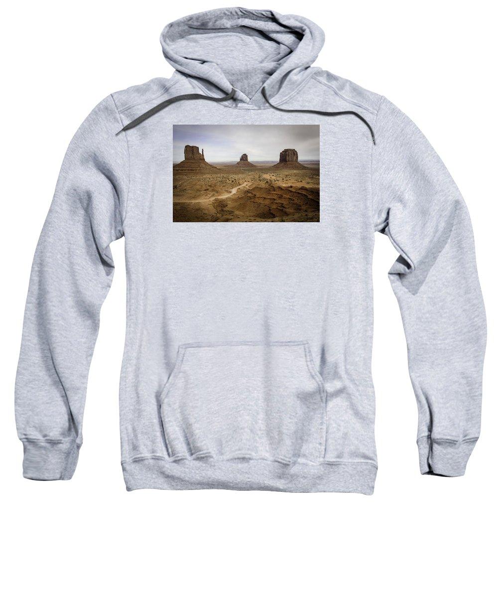 Monument Valley. Landscape Sweatshirt featuring the photograph 100 by Garth Pillsbury