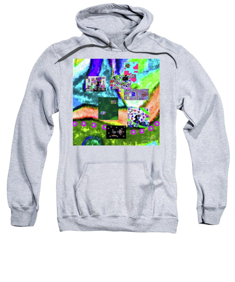 Walter Paul Bebirian Sweatshirt featuring the digital art 11-11-2015abcdefghijklmnopqrtuvwxyzabcdefghi by Walter Paul Bebirian