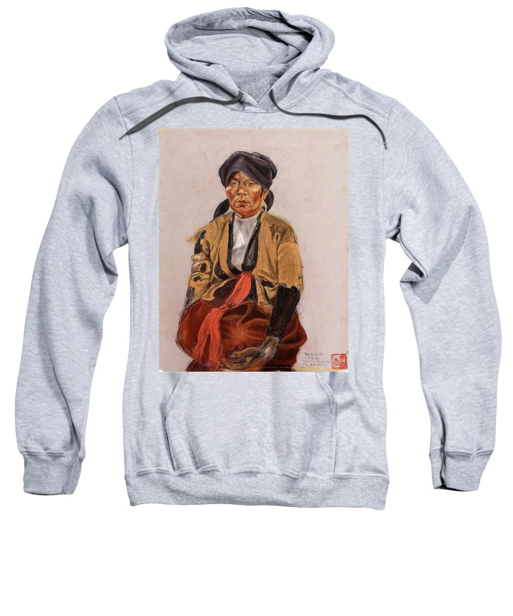 Pastel By Vivian Dorf Sweatshirt featuring the painting Johan Gunnar Andersson by MotionAge Designs