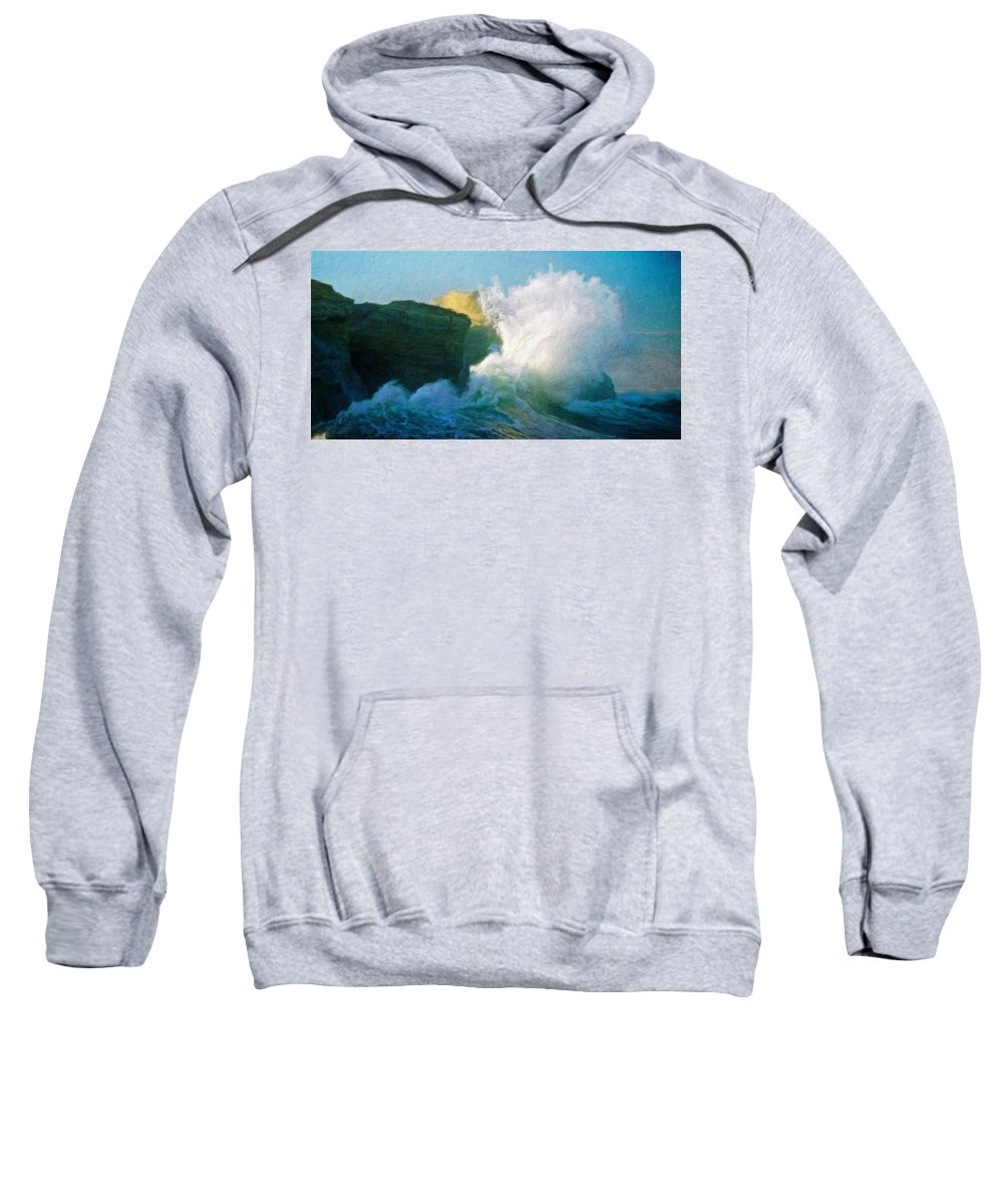 Landscape Sweatshirt featuring the painting Nature Landscape Work by World Map