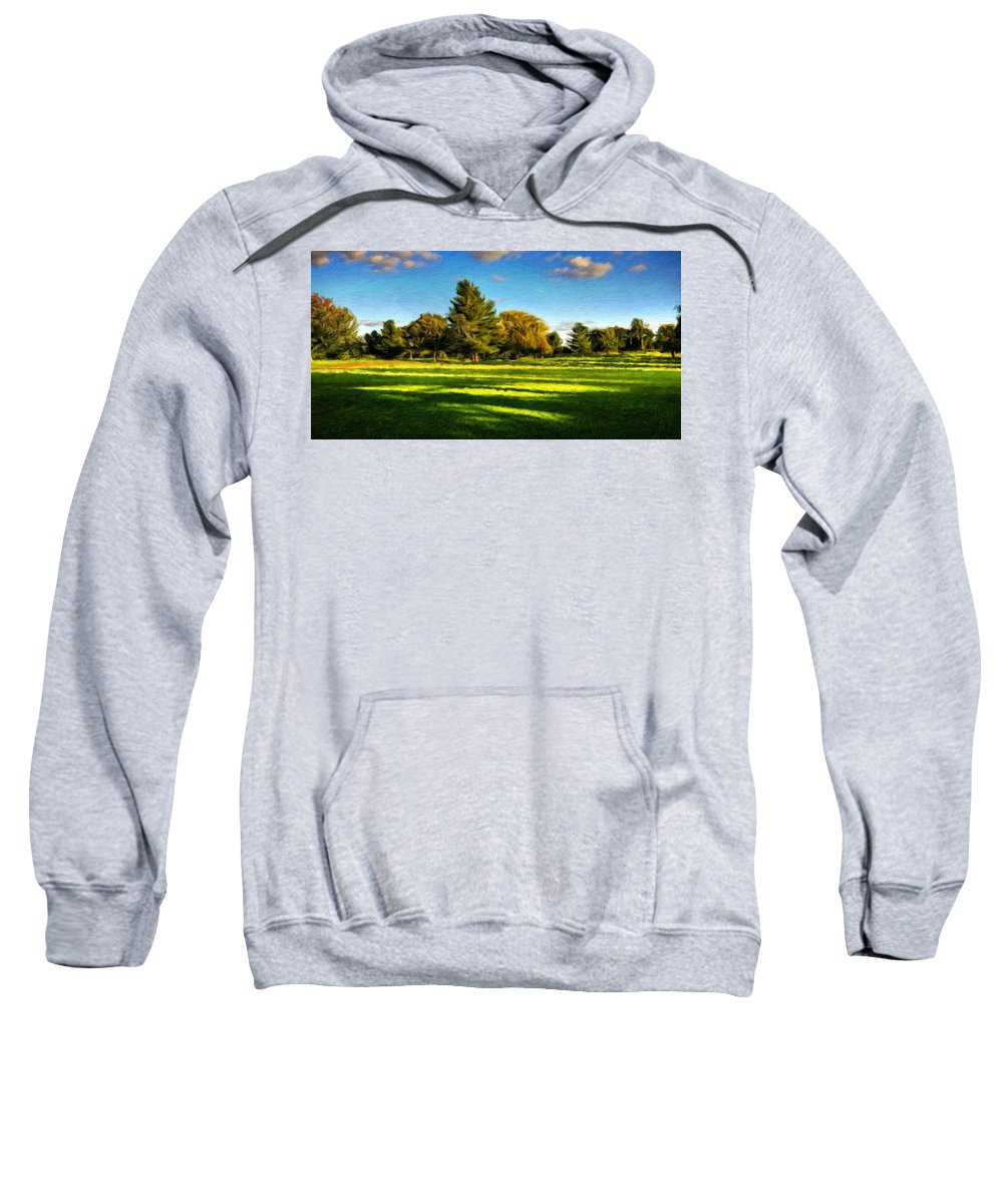 Landscape Sweatshirt featuring the painting Nature Pictures Of Oil Paintings Landscape by World Map