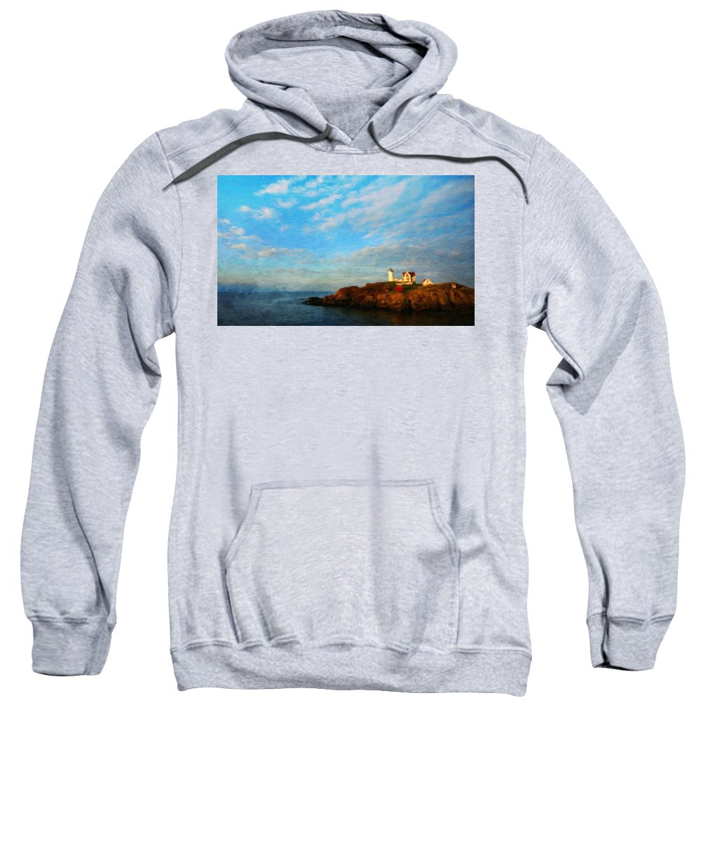 Landscape Sweatshirt featuring the painting Nature Landscape Oil Painting by World Map