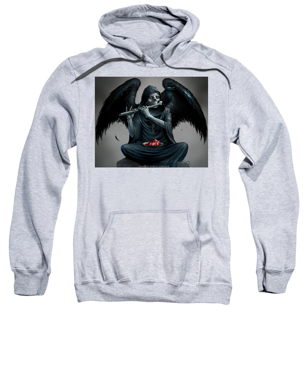 Angel Sweatshirt featuring the digital art Angel by Mery Moon