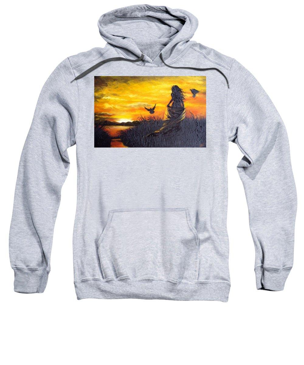 Women Sweatshirt featuring the digital art Women by Bert Mailer