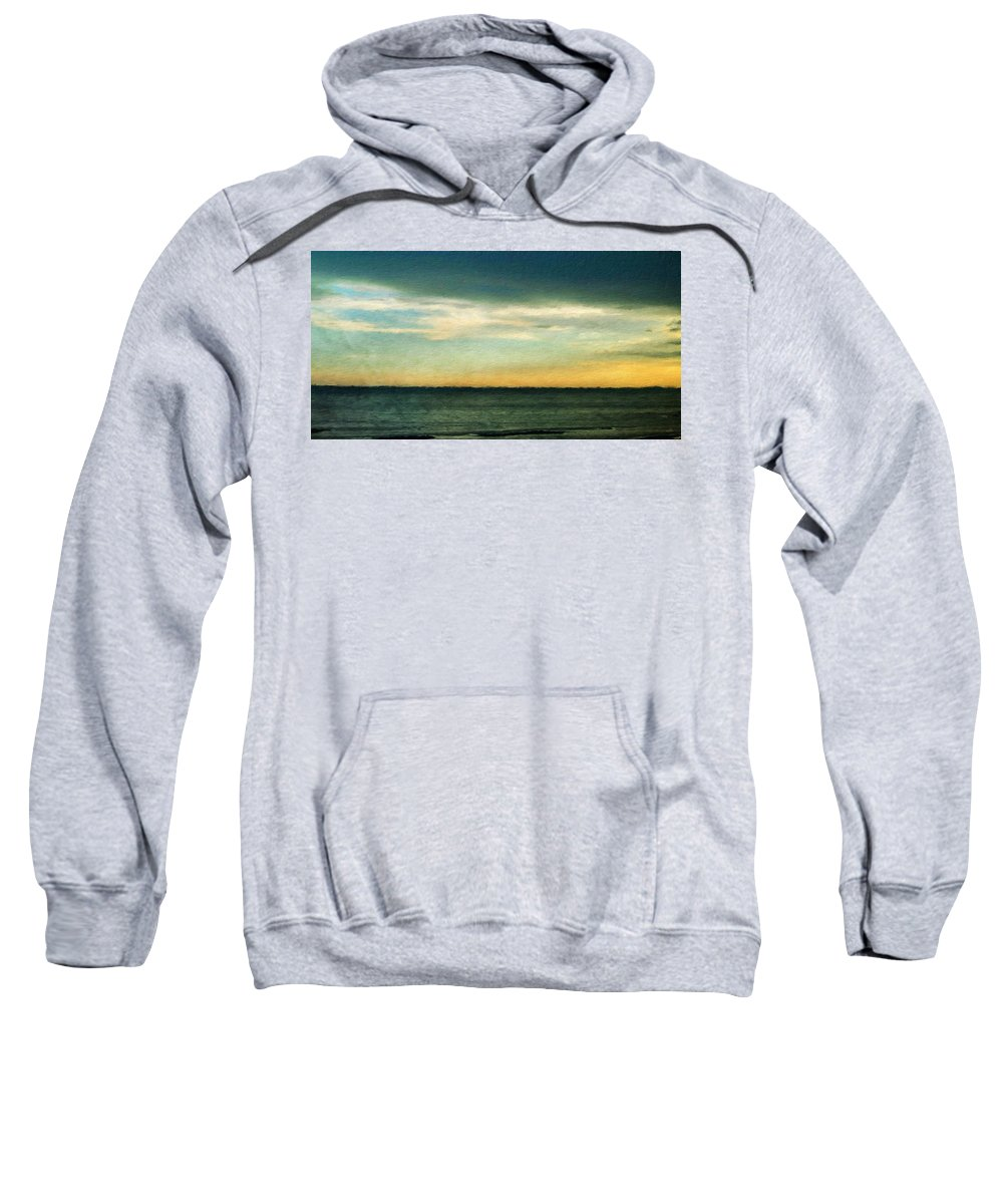Landscape Sweatshirt featuring the painting Landscape Paintings Canvas Prints Nature Art by World Map