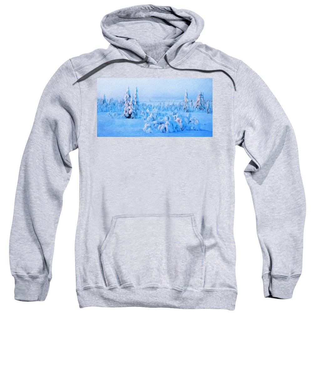 Landscape Sweatshirt featuring the painting Landscape Paintings Canvas Prints Nature Art by World Map