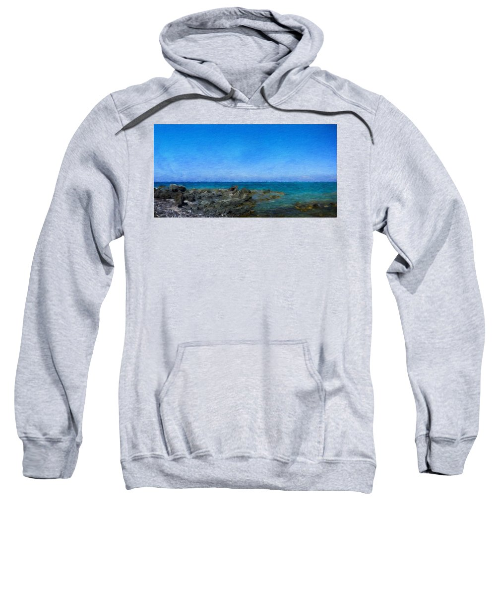Landscape Sweatshirt featuring the painting Nature Landscape Painting by World Map