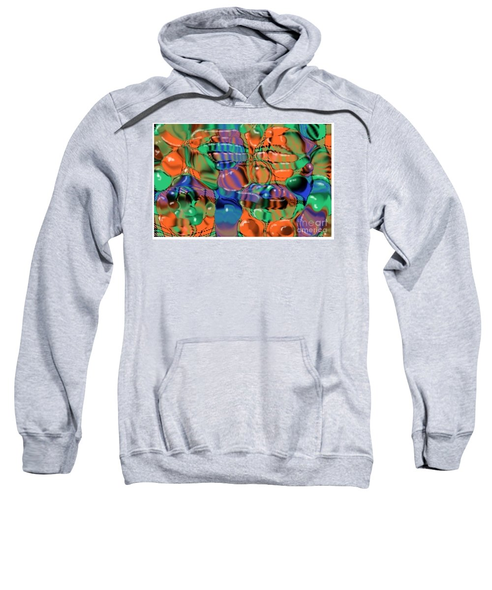 Abstract Sweatshirt featuring the digital art 1297exp1 by Ron Bissett