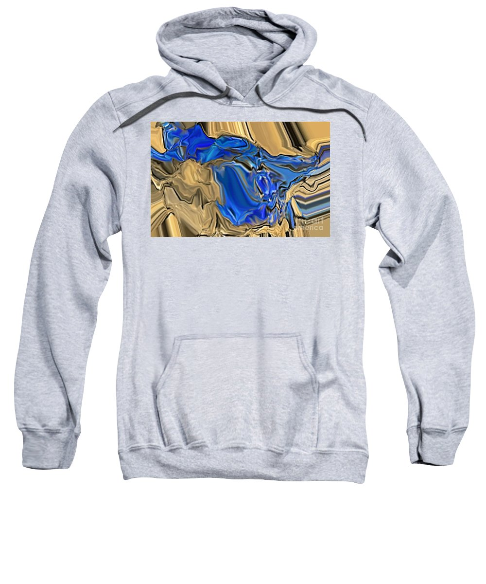 Abstract Sweatshirt featuring the digital art 1297exp6 by Ron Bissett