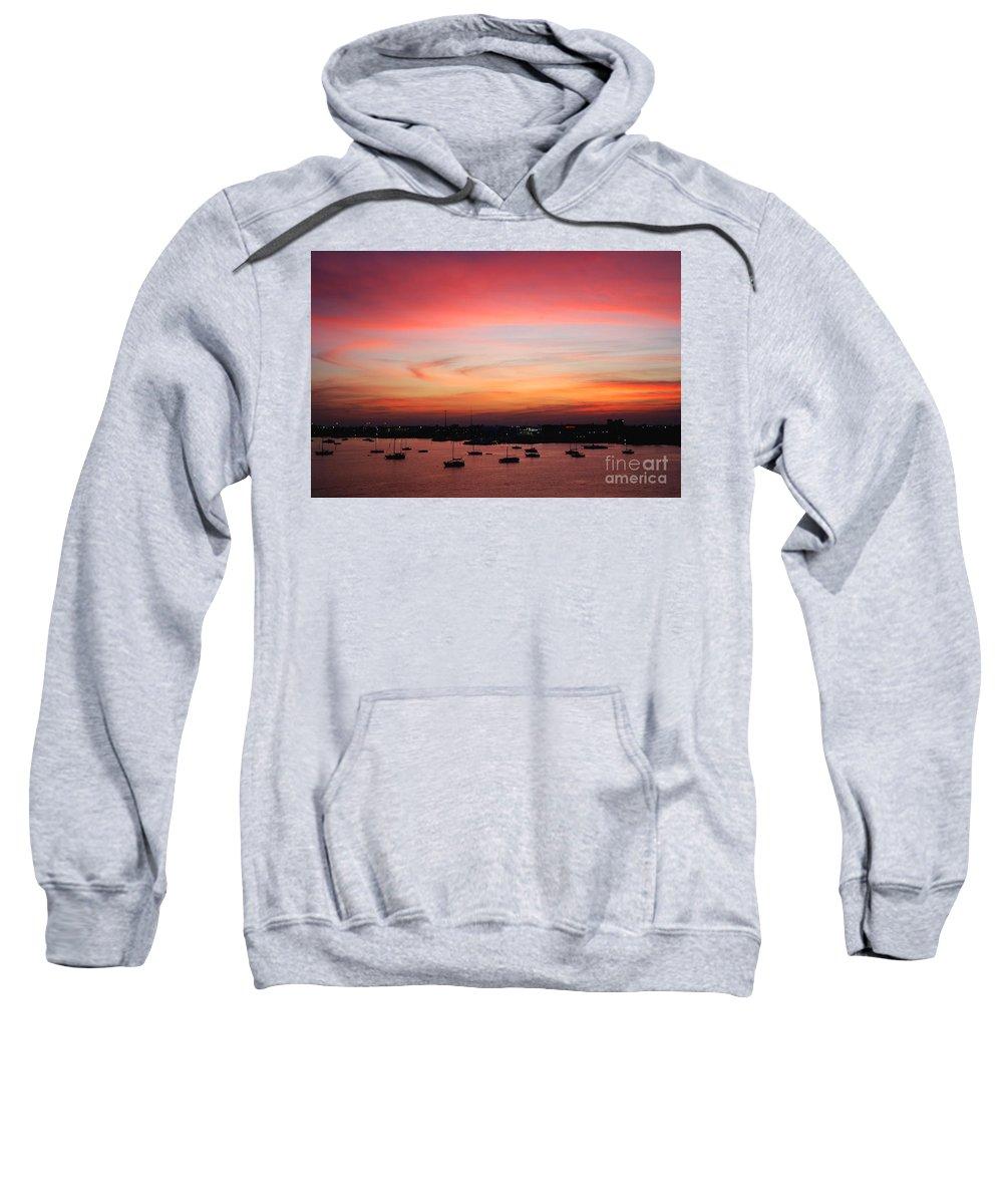 Sunset Sweatshirt featuring the photograph 13- Crimson Dream by Joseph Keane