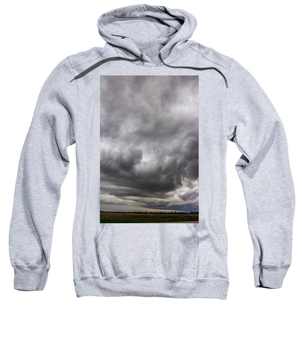 Nebraskasc Sweatshirt featuring the photograph Non Severe Nebraska Thunderstorms by NebraskaSC