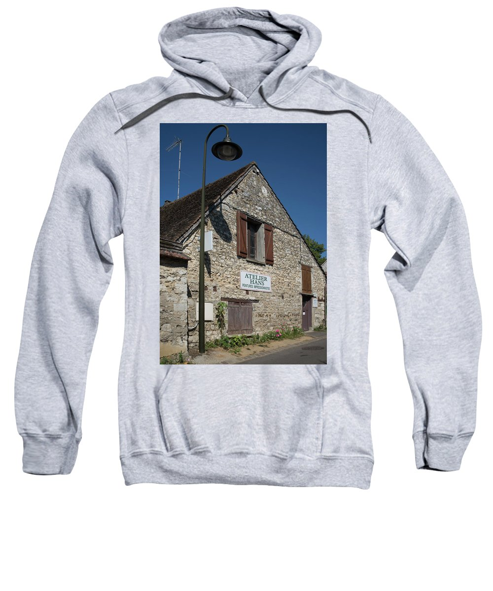 Claude Monet Sweatshirt featuring the digital art Street Scenes From Giverny France by Carol Ailles