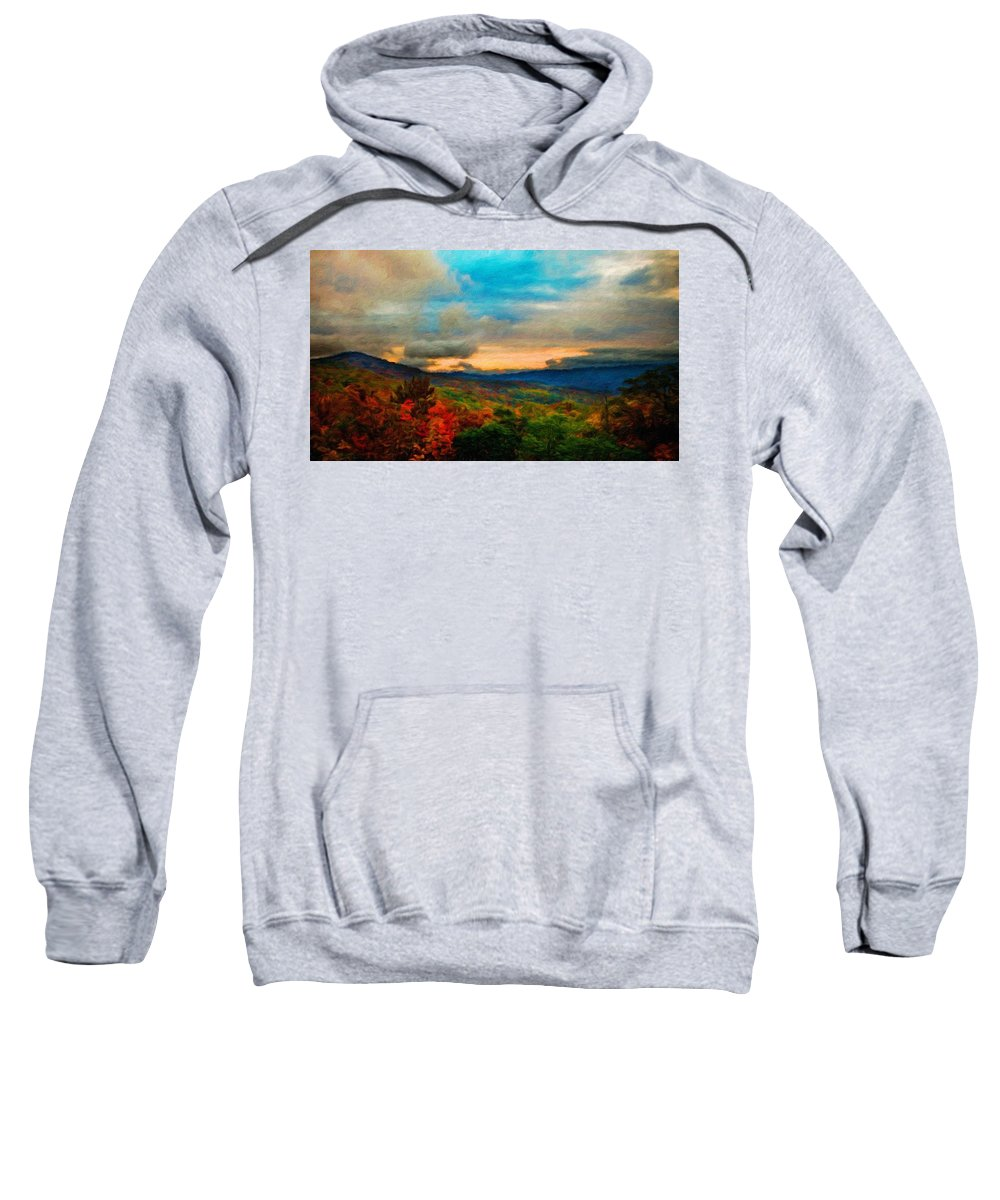 Landscape Sweatshirt featuring the painting Landscape Art Nature by World Map