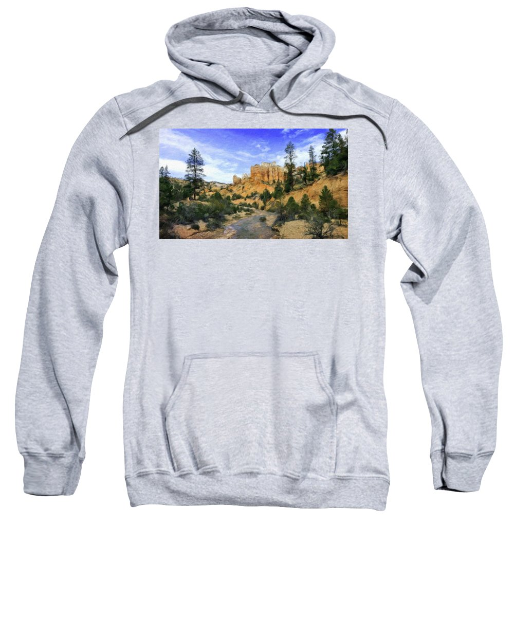 Landscape Sweatshirt featuring the painting Landscape Painted by World Map