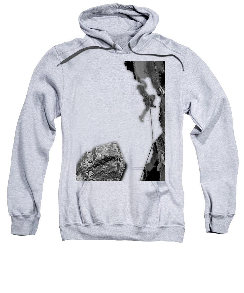 Rock Climber Sweatshirt featuring the mixed media Rock Climber Collection by Marvin Blaine