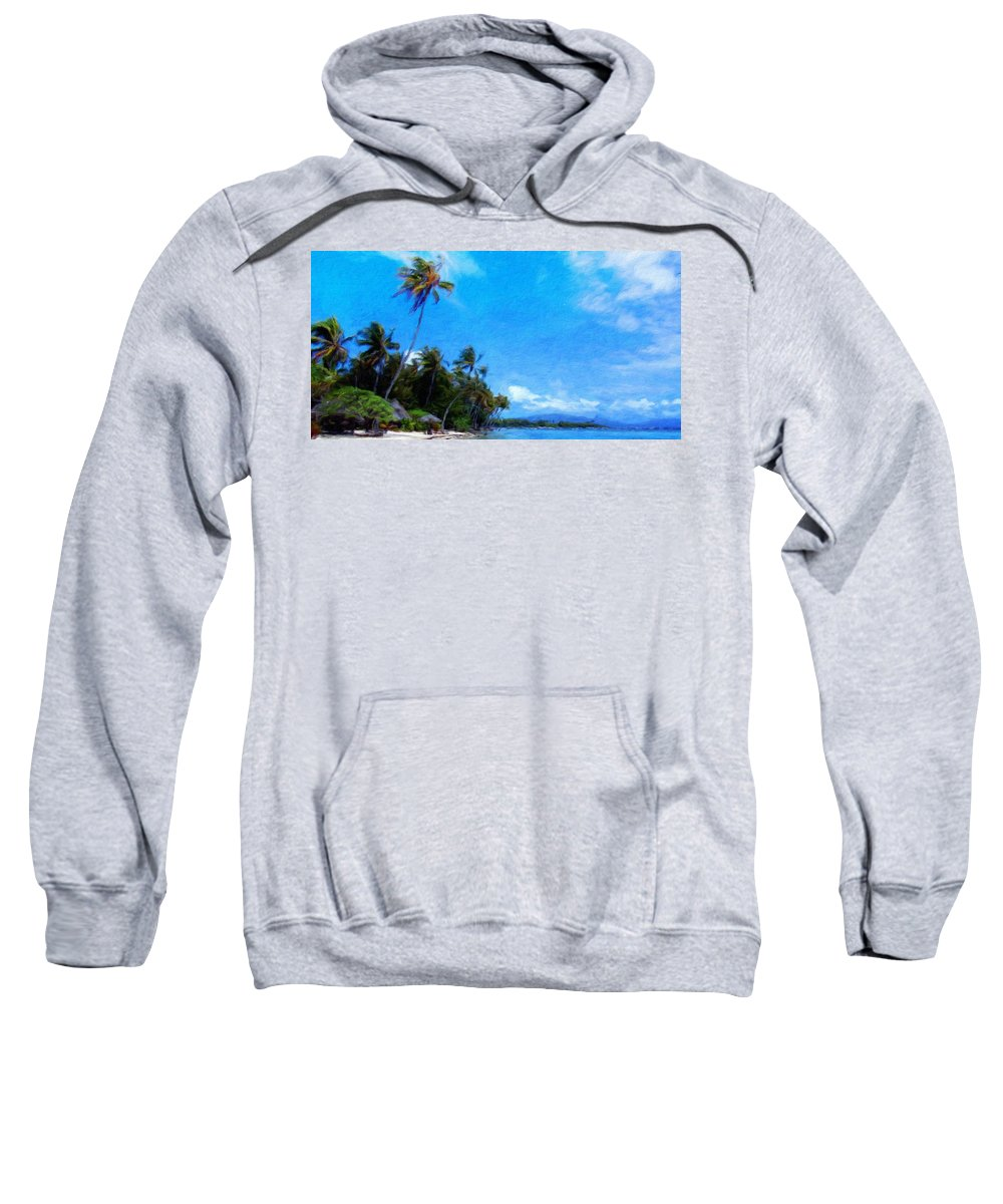 Landscape Sweatshirt featuring the painting Landscape Nature Drawing by World Map