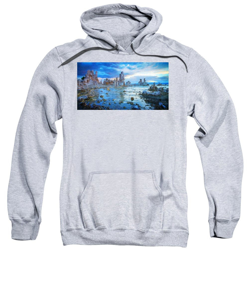 Landscape Sweatshirt featuring the painting Art Landscape Nature by World Map