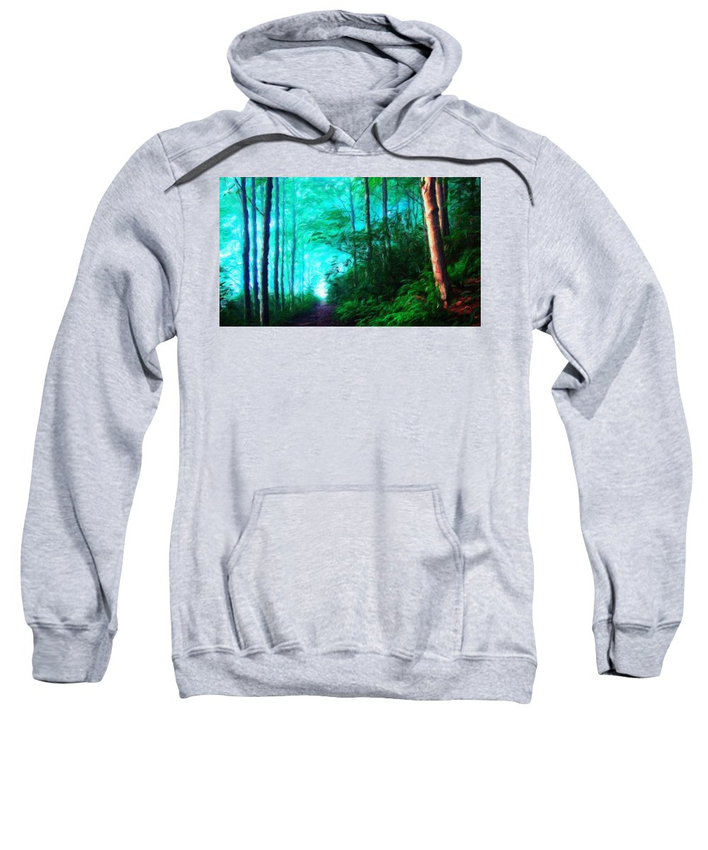 Landscape Sweatshirt featuring the painting Nature Landscape Oil by World Map
