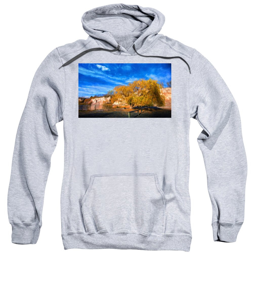 Landscape Sweatshirt featuring the painting Nature Landscape Paintings by World Map