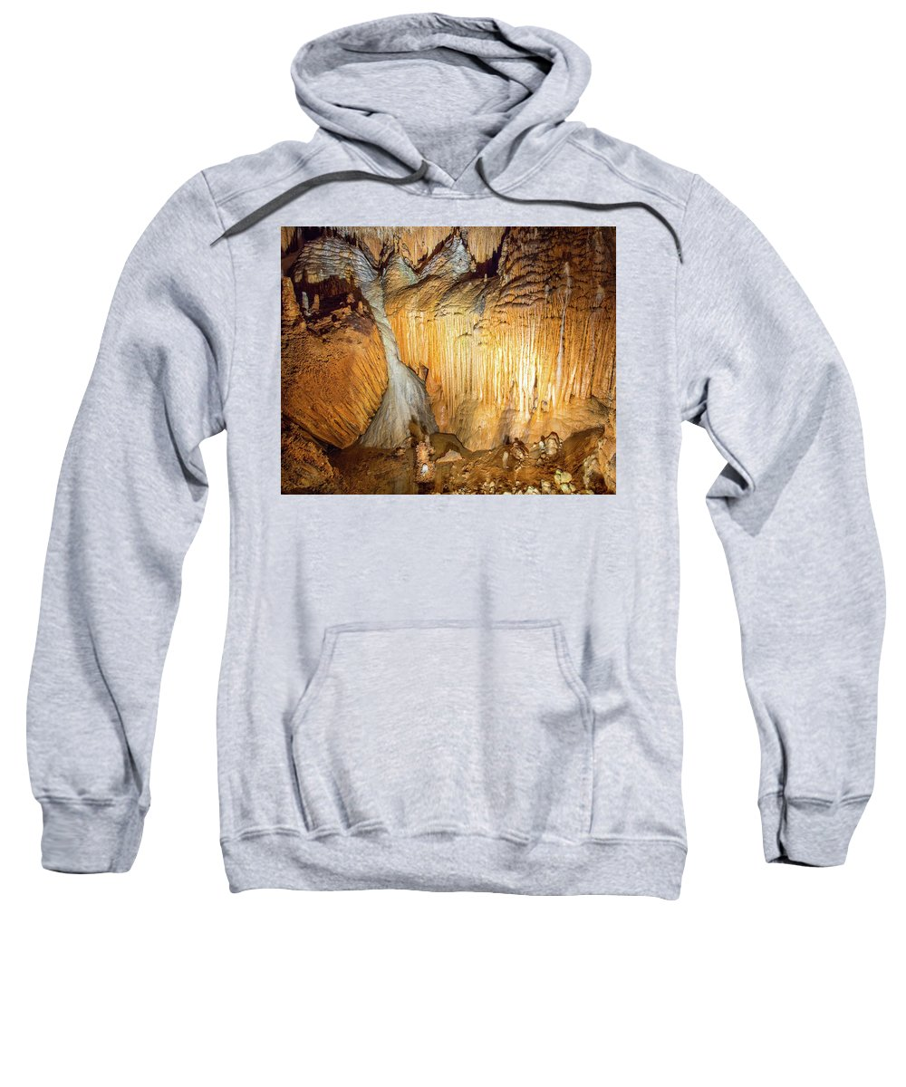 Onondaga Cave Sweatshirt featuring the photograph Onondaga Cave Formations by Michael Munster