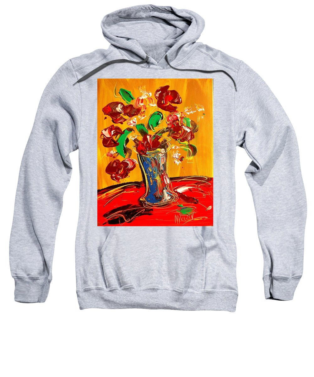 Surreal Framed Prints Sweatshirt featuring the painting Roses by Mark Kazav