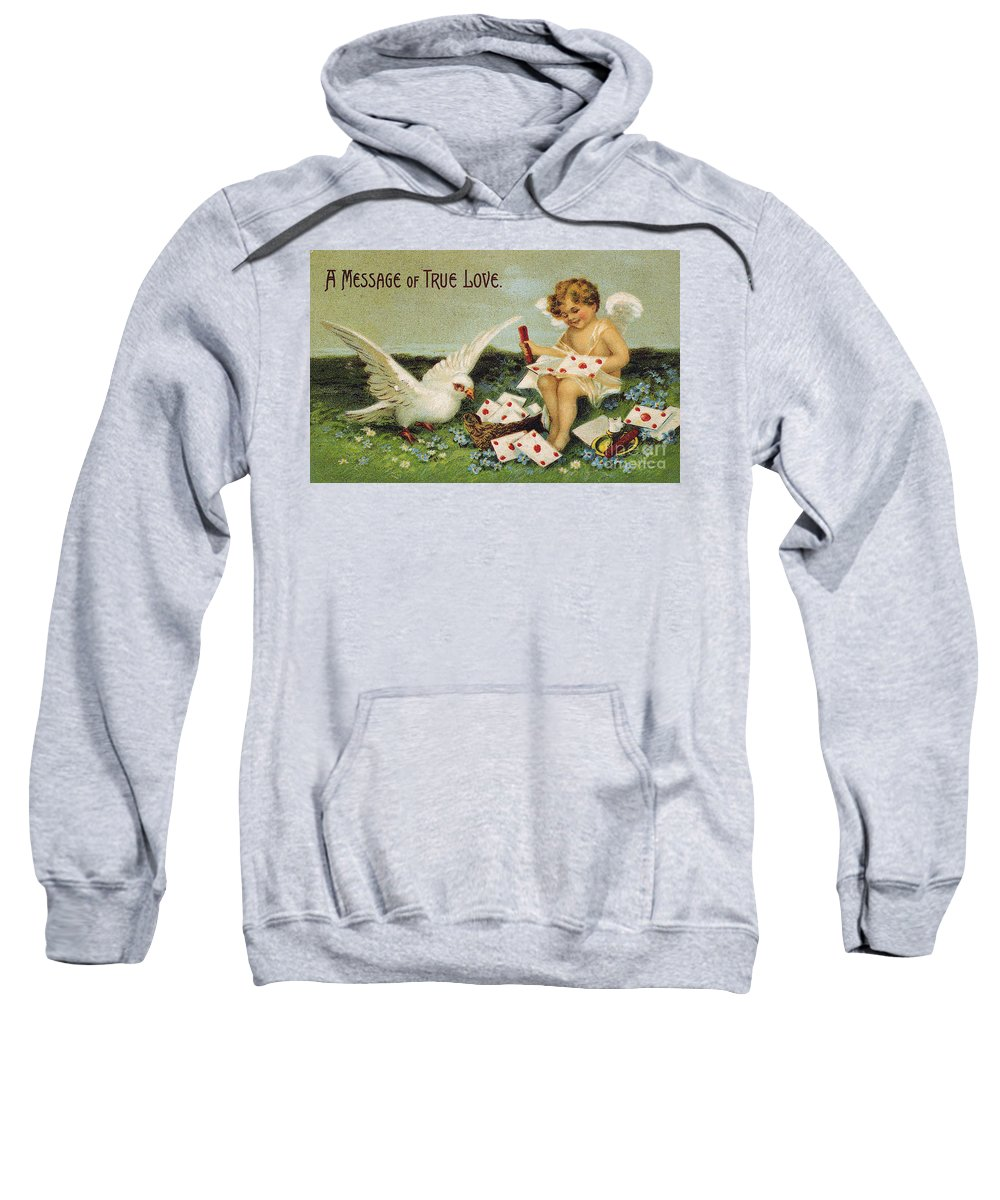 1910 Sweatshirt featuring the photograph Valentines Day Card by Granger