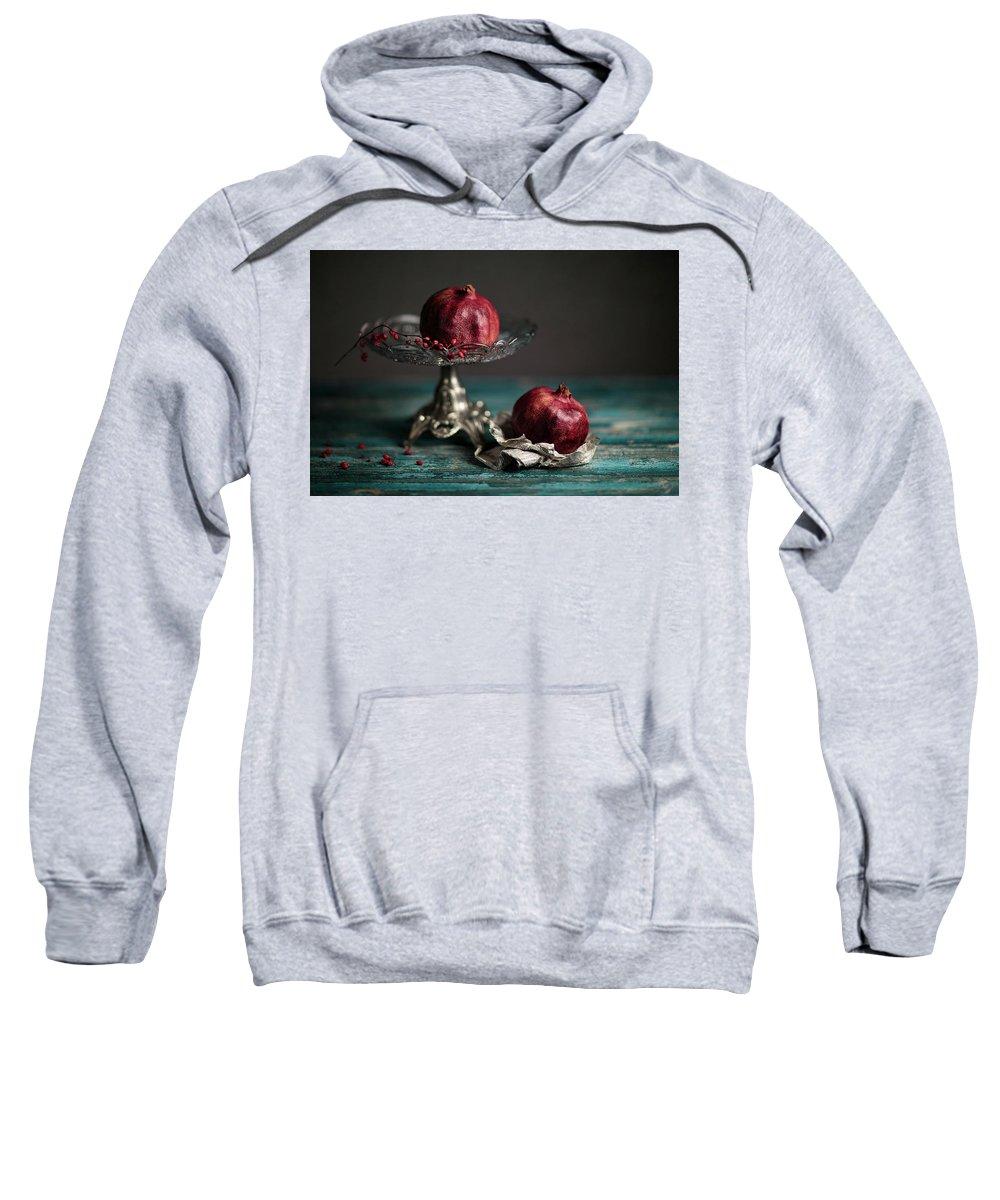 Still Life Sweatshirt featuring the photograph Pomegranate by Nailia Schwarz