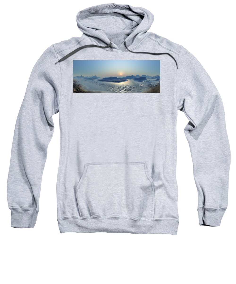 Landscape Sweatshirt featuring the digital art Landscape by Bert Mailer