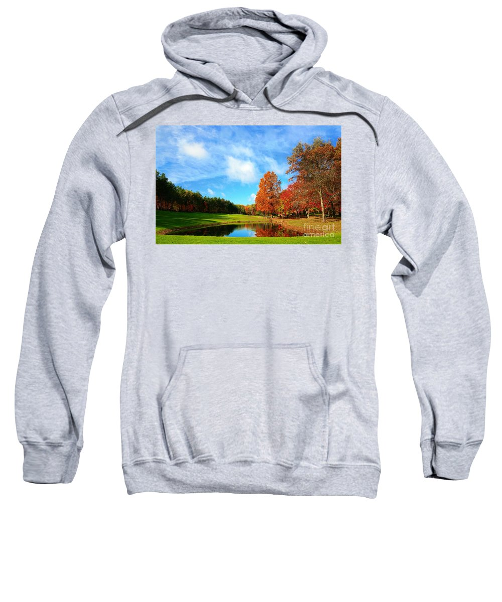 Golf Sweatshirt featuring the photograph 18th Hole Par3 by Robert Pearson