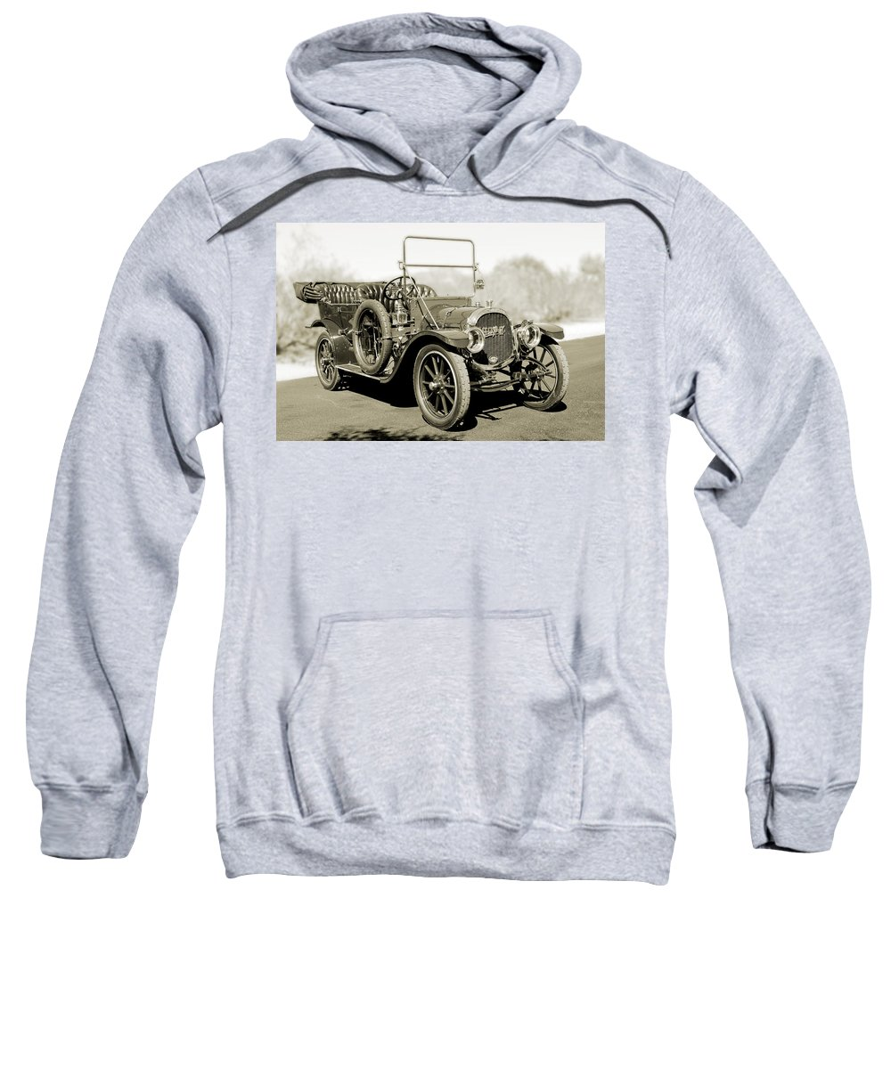 1910 Pope Hartford T Sweatshirt featuring the photograph 1910 Pope Hartford T Black And White 2 by Jill Reger